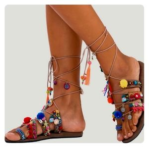 Free People Shoes - Free People Boho sandals NEW